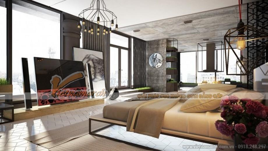 Thiết kế mẫu trần thạch cao hiện đại vô cùng phong cách cho căn hộ của anh Sĩ- Bắc Giang-03