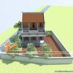 Ngắm kiến trúc nhà tổ 2 tầng cho nhà bác Doanh tại Bắc Ninh