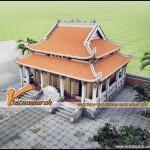 Thiết kế nhà thờ họ 8 mái ở Quảng Trạch – Quảng Bình nhà anh Đạt