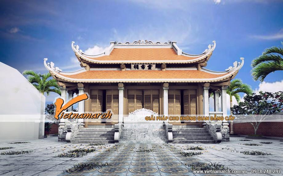 Thiết kế nhà thờ họ 8 mái ở Quảng Trạch - Quảng Bình nhà anh Đạt