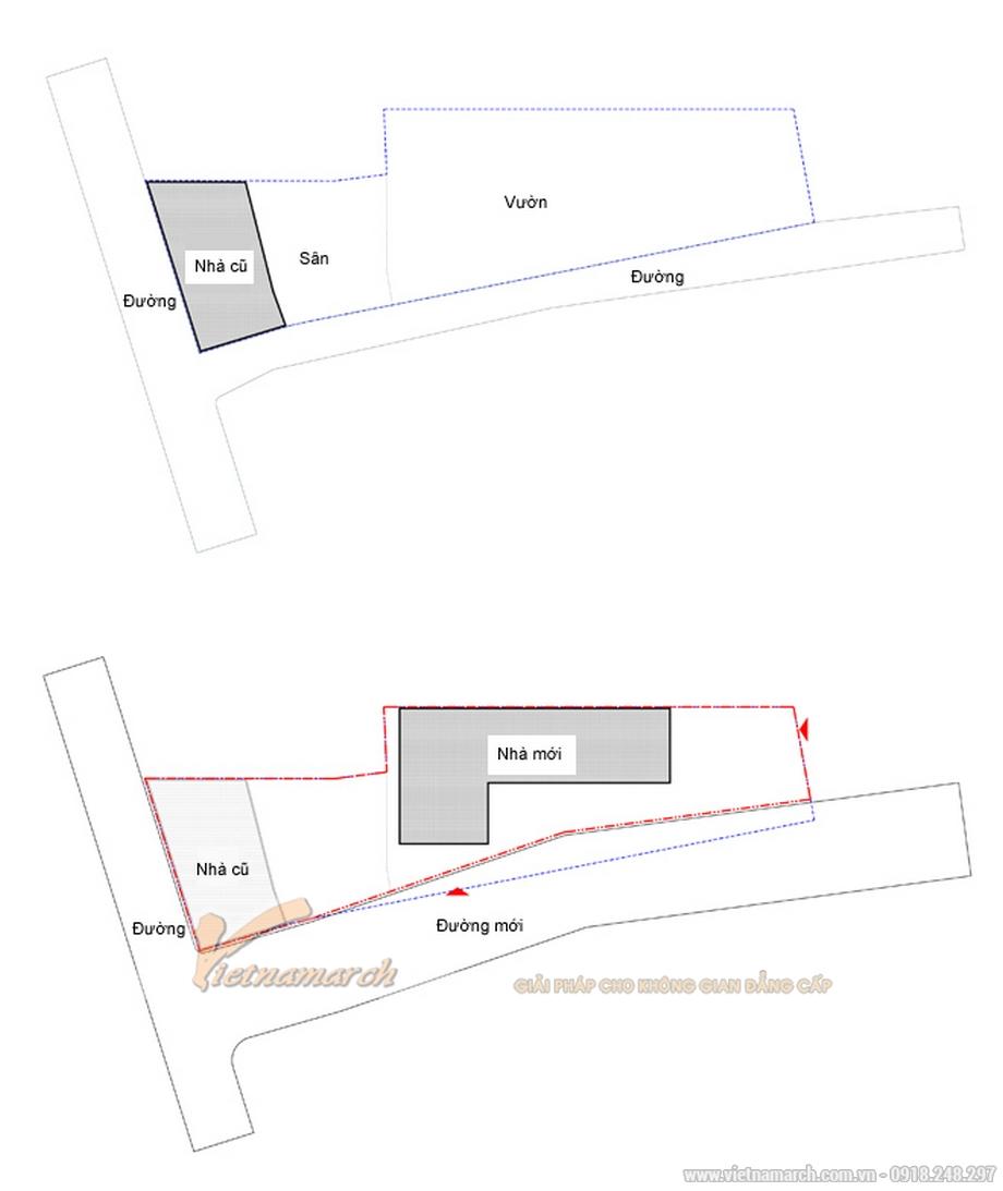 Hiện trạng khu đất xây dựng nhà của anh Long - Long Biên - Hà Nội