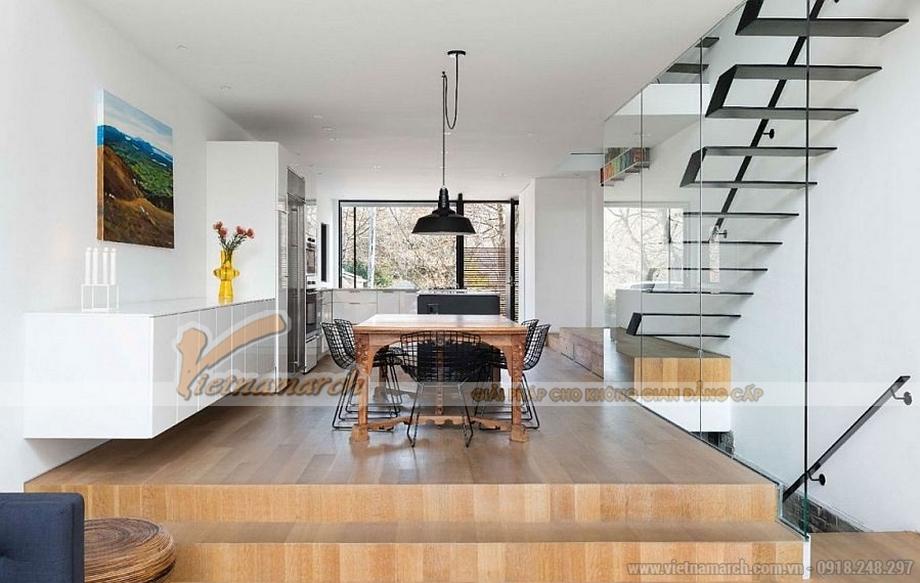 mẫu trần thạch cao cho không gian phòng khách của gia đình anh Minh -04