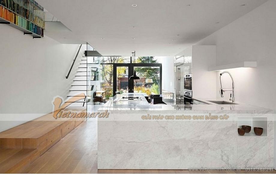mẫu trần thạch cao cho không gian phòng khách của gia đình anh Minh - 05
