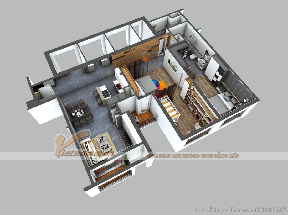 Thiết kế căn hộ 16 Park 1 chung cư Park Hill Times City nhà anh Tùng