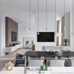 3 mẫu phòng khách siêu độc đáo với trần thạch cao cho căn hộ chung cư Times City Park Hill
