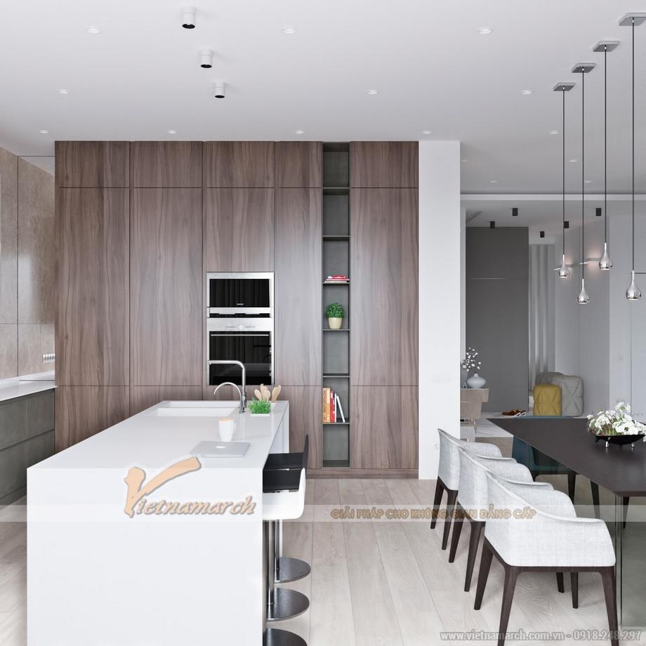 Thiết kế nội thất hiện đại trong căn hộ cao cấp GoldMark City