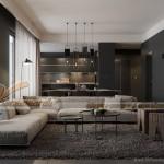 Thiết kế nội thất chung cư Park Hill Times City sang trọng, ấn tượng với mảng màu tối