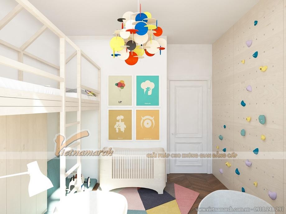 Thiết kế phòng ngủ cho trẻ như một khu vui chơi giải trí thu nhỏ