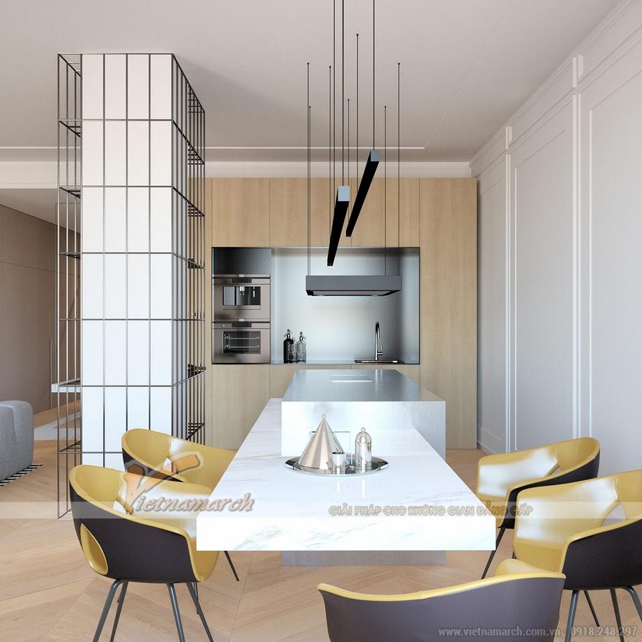 Bộ bàn ghế ăn trong phòng bếp hiện đại và độc đáo