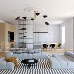 Thiết kế nội thất căn hộ cao cấp WaterFront City hiện đại pha chút cổ điển