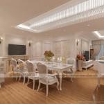 Thiết kế nội thất căn hộ D Tân Hoàng Minh – 36 Hoàng Cầu phong cách tân cổ điển