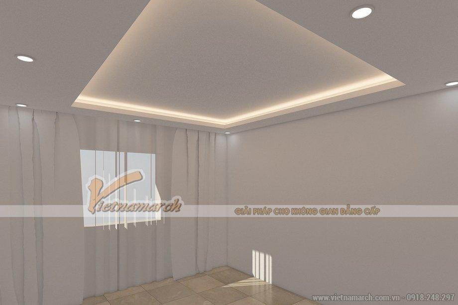 Phòng khách kiêu sa với mẫu trần thạch cao giật cấp nhà chị Bích - Hà Nội - 01