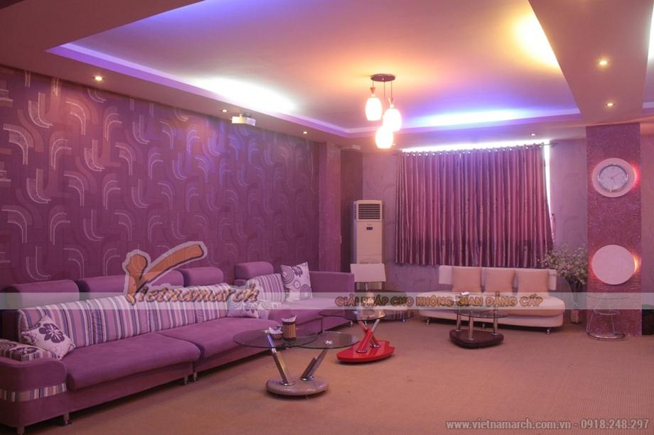 Thiết kế trần thạch cao tiêu âm cho quán Karaoke đầy sang trọng