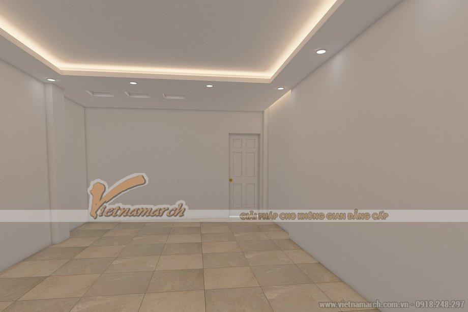 Thiết kế trần thạch cao nhà ống nhà Bác Đức - Bắc Ninh