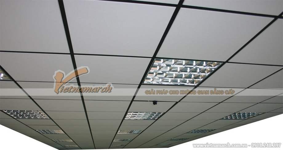 Ứng dụng tấm trần phủ PVC Coral VT1 vào thi công trần thạch cao