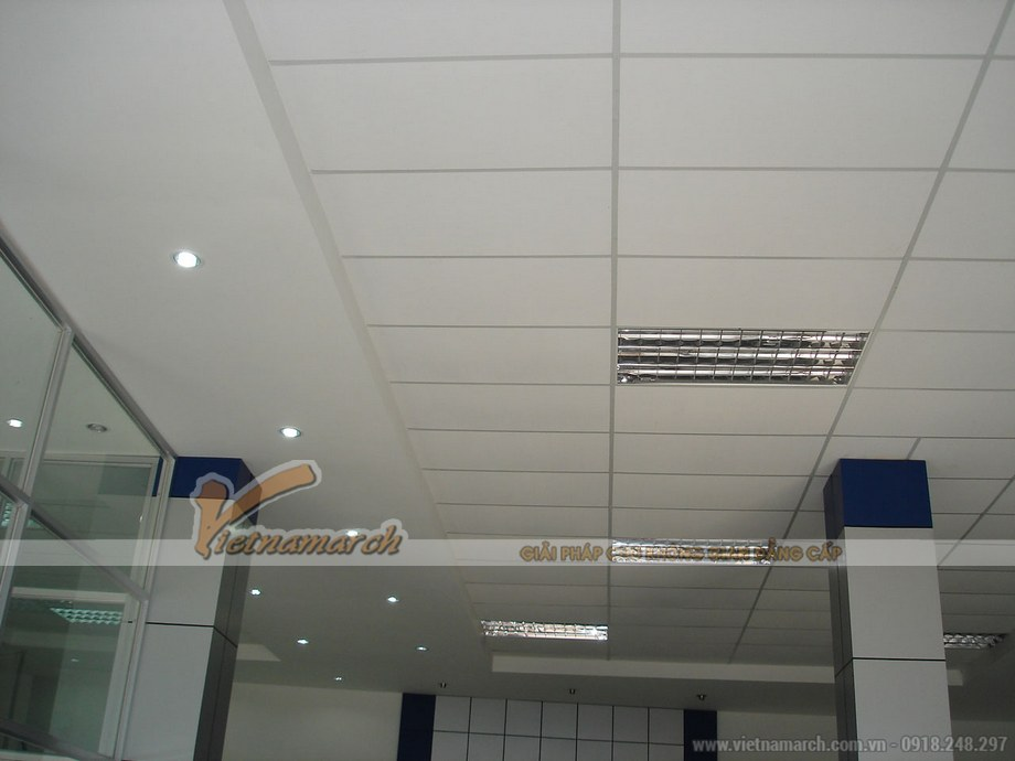 ứng dụng tấm PVC Matrix VT5 vào thi công trần thạch cao