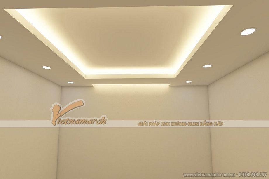 Phòng khách kiêu sa với mẫu trần thạch cao giật cấp nhà chị Bích - Hà Nội