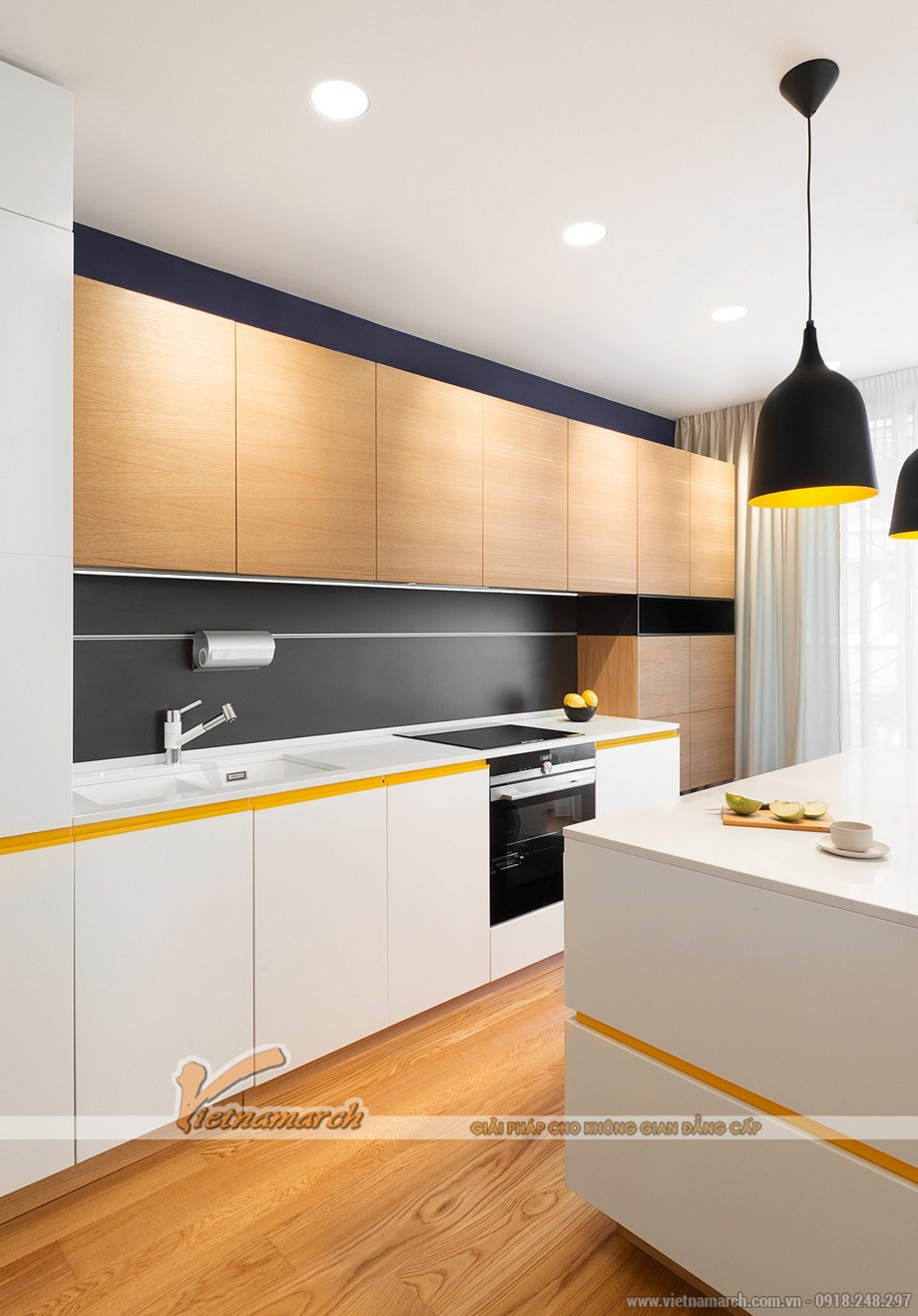 Thiết kế mẫu trần thạch cao siêu ấn tượng cho căn hộ Times City nhà chị Hương - Hà Nội - 06