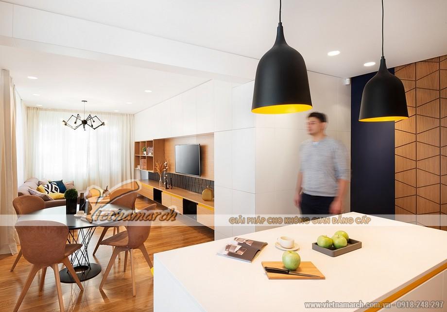 Thiết kế mẫu trần thạch cao siêu ấn tượng cho căn hộ Times City nhà chị Hương - Hà Nội - 04