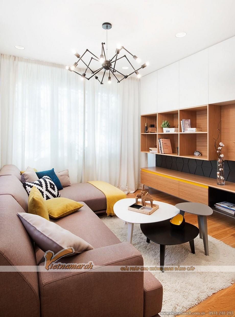 Thiết kế mẫu trần thạch cao siêu ấn tượng cho căn hộ Times City nhà chị Hương - Hà Nội - 01