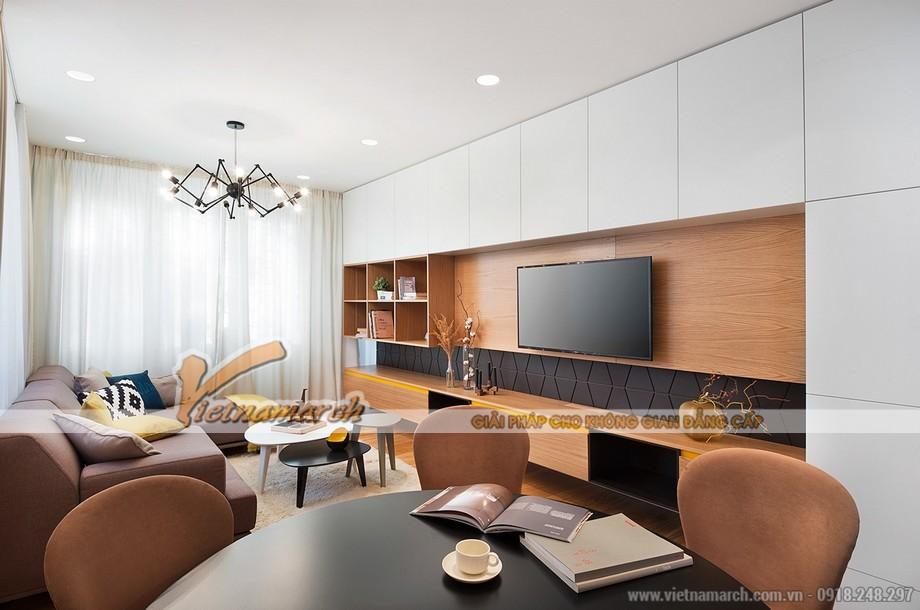 Không gian phòng khách cực xinh với mẫu trần thạch cao hiện đại - 08