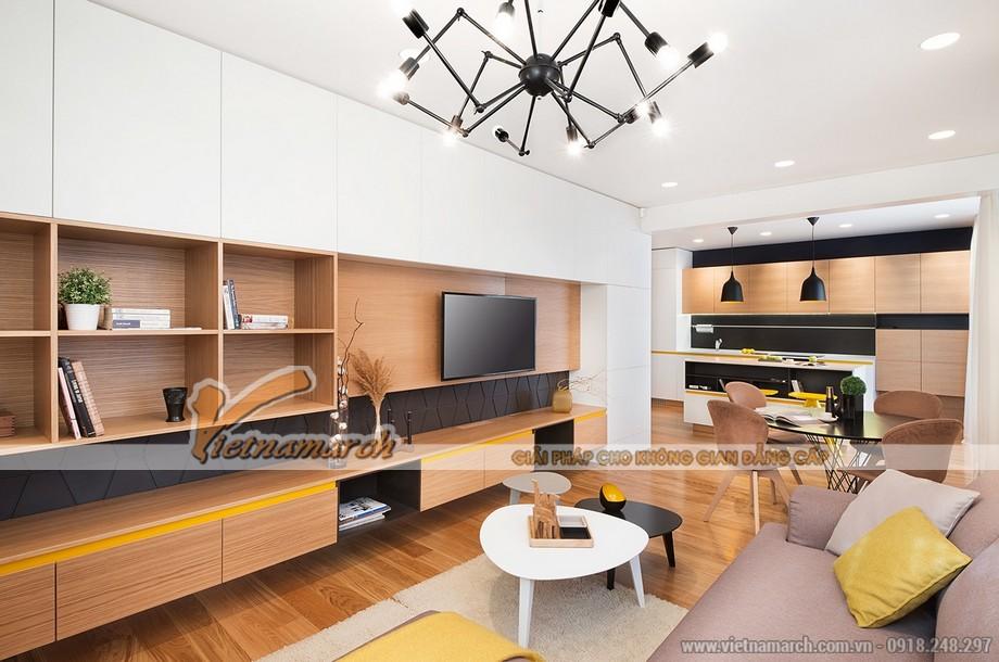 Thiết kế mẫu trần thạch cao siêu ấn tượng cho căn hộ Times City nhà chị Hương - Hà Nội - 03