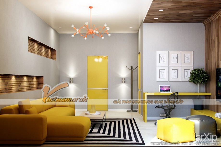 Lựa chọn mẫu trần thạch cao cho phòng khách diện tích nhỏ - 09