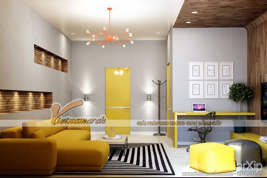 3 mẫu phòng khách siêu độc đáo cho căn hộ chung cư Times City Park Hill - 03