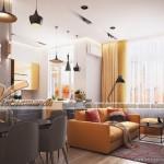 Sự lên ngôi của màu vàng trong thiết kế nội thất phòng khách  Water Front City