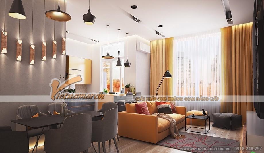 Chiêm ngưỡng mẫu trần thạch cao phẳng cho phòng khách tại chung cư Times City - 09