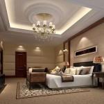 Bài trì nội thất sang trọng với trần thạch cao cổ điển trong không gian sống