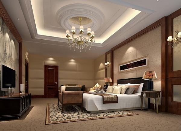 mẫu trần thạch cao cho không gian phòng khách của gia đình anh Minh - 02