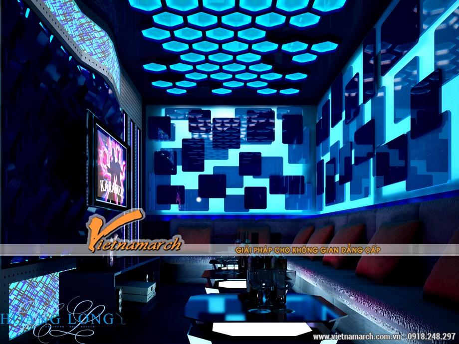Những gam màu đẹp của các mẫu trần thạch cao hiện đại dùng trong quán Karaoke-07