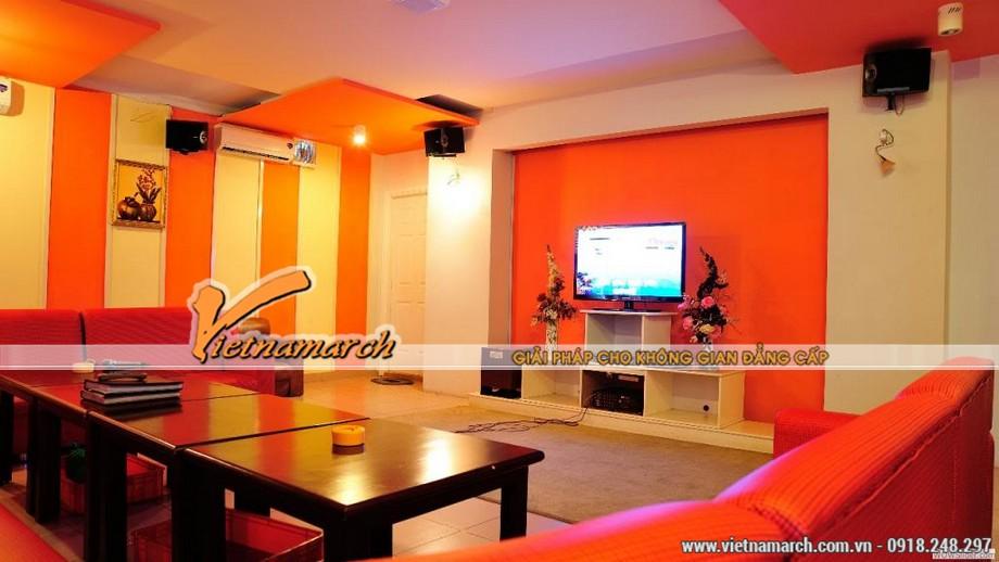 Những gam màu đẹp của các mẫu trần thạch cao hiện đại dùng trong quán Karaoke-08