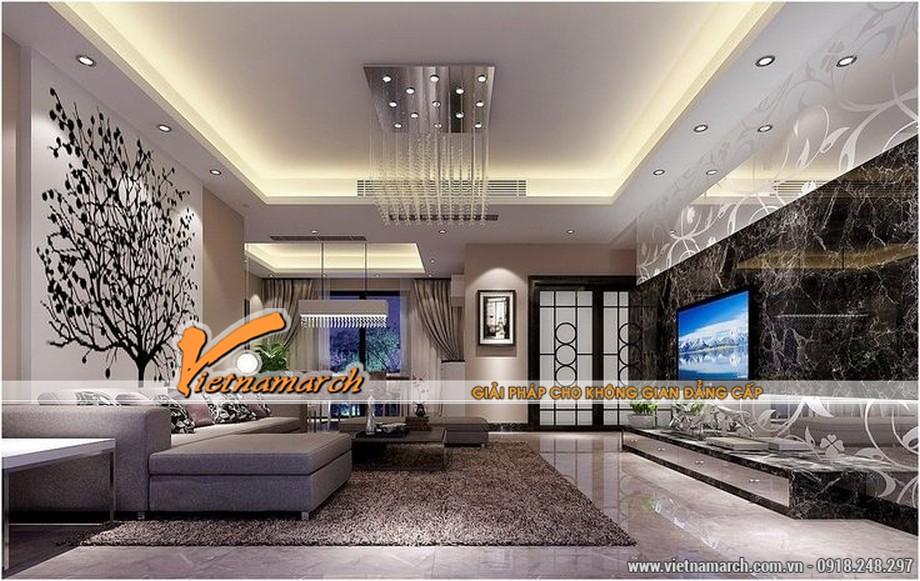 Thiết kế trần thạch cao hiện đại theo phong thủy mới nhất 2016-04