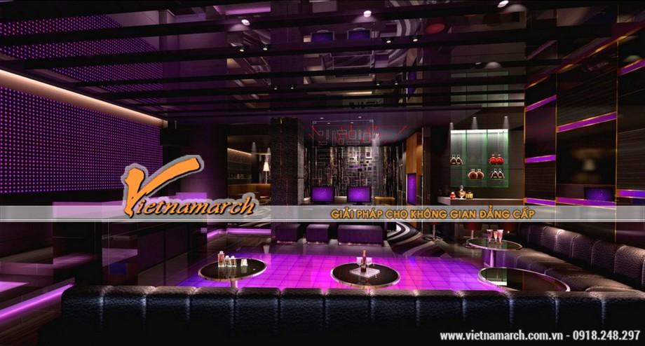 Những gam màu đẹp của các mẫu trần thạch cao hiện đại dùng trong quán Karaoke-05