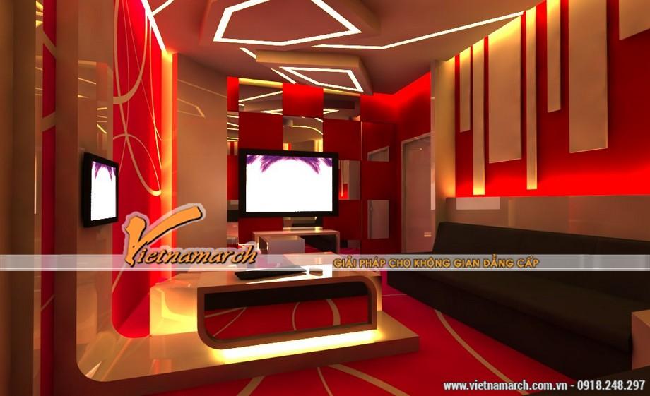 Những gam màu đẹp của các mẫu trần thạch cao hiện đại dùng trong quán Karaoke-09