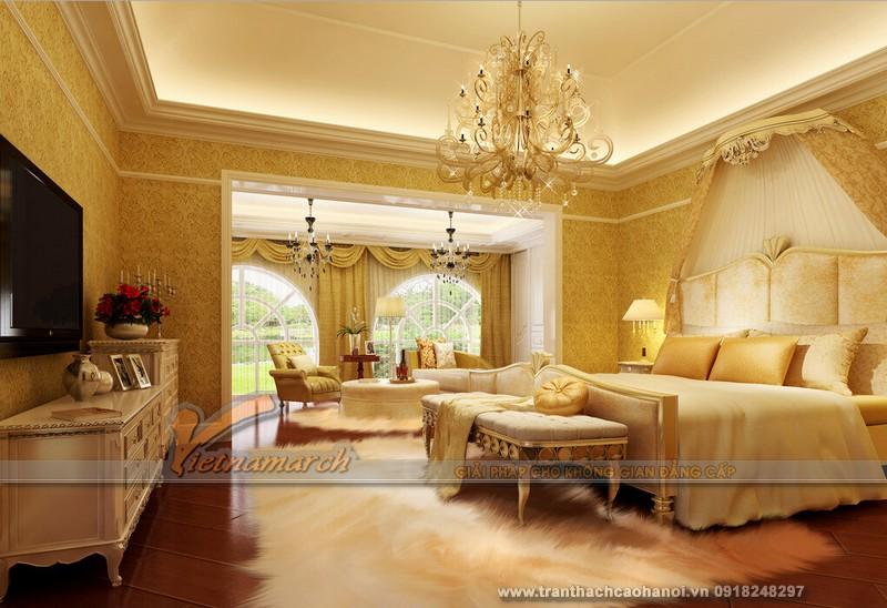 Thiết kế trần thạch cao cho phòng ngủ thanh lịch