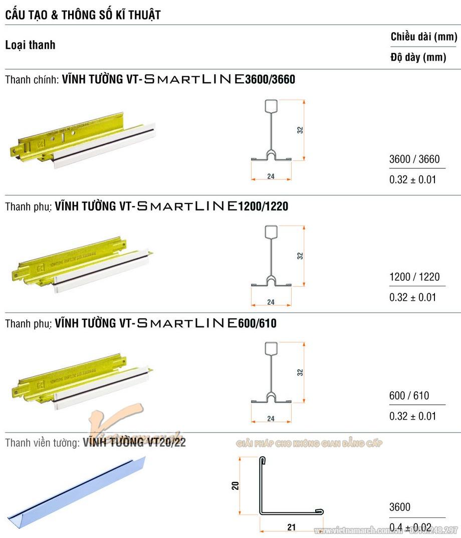 Khung trần thạch cao nổi SmartLine ( Rãnh đen )-02