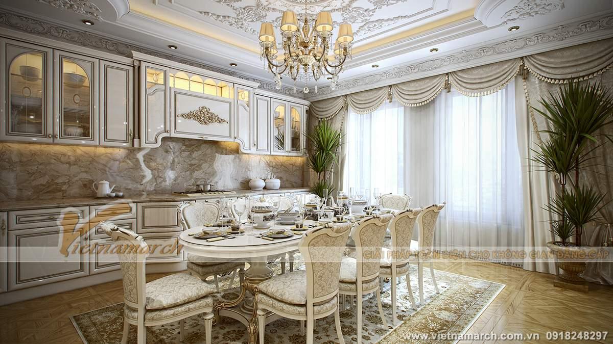 Thiết kế trần thạch cao phong cách hoàng gia cho căn hộ chung cư Times City - 04