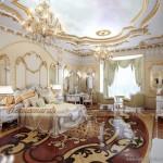 Thiết kế trần thạch cao phong cách hoàng gia cho căn hộ chung cư Times City