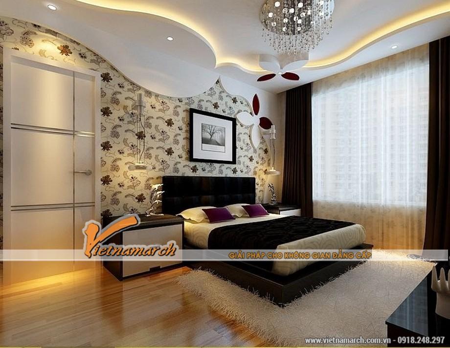 Mẫu trần thạch cao đẹp cho phòng ngủ 01