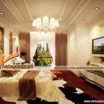 Mẫu trần thạch cao phong cách cổ điển trong căn hộ Times City – Park Hill nhà bác Bình