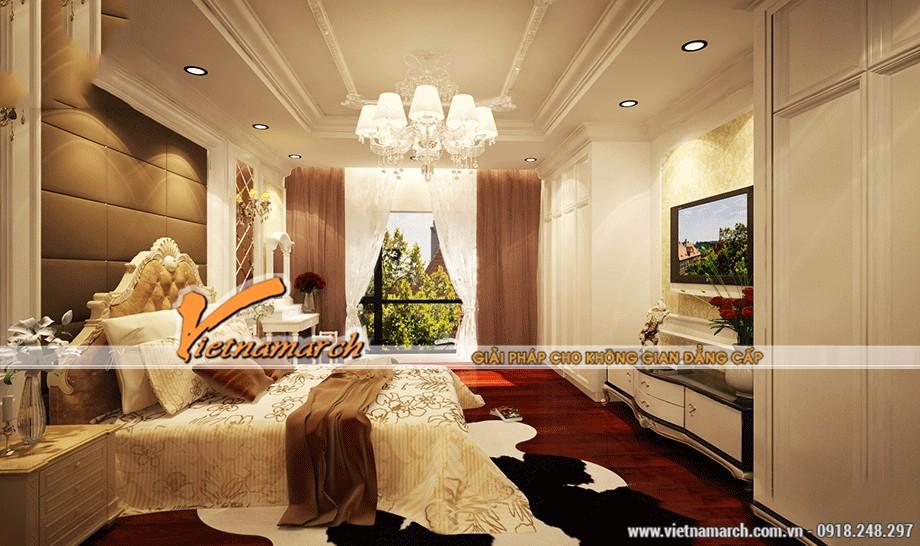 Trần thạch cao cổ điển mang lại cảm giác ấm áp cho phòng ngủ