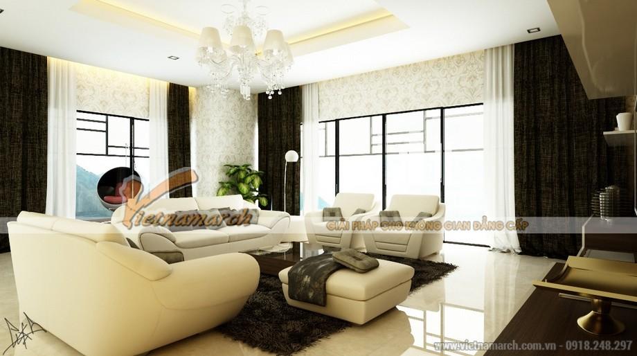 Chiêm ngưỡng mẫu trần thạch cao phòng khách phong cách hiện đại - 05