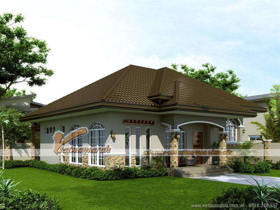 Thiết kế nhà cấp 4 hiện đại 1 tầng tại Long Biên, Hà Nội