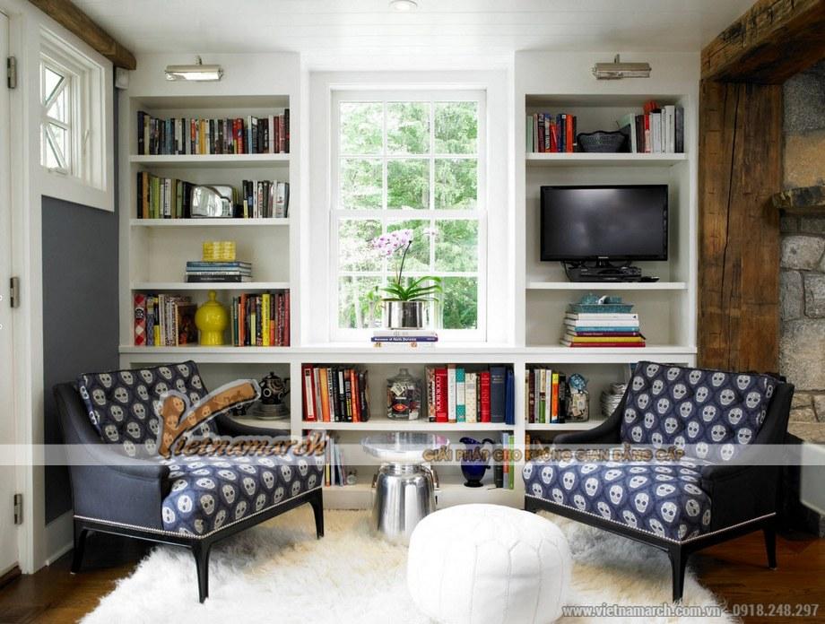 Thiết kế nội thất phòng đọc sách nhà cấp 4 hiện đại 1 tầng tại Long Biên