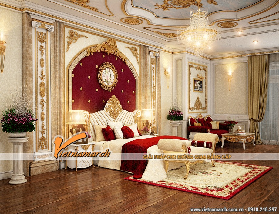 Mẫu trần thạch cao phòng ngủ đẹp và quyến rũ - chung cư Ecopark 01