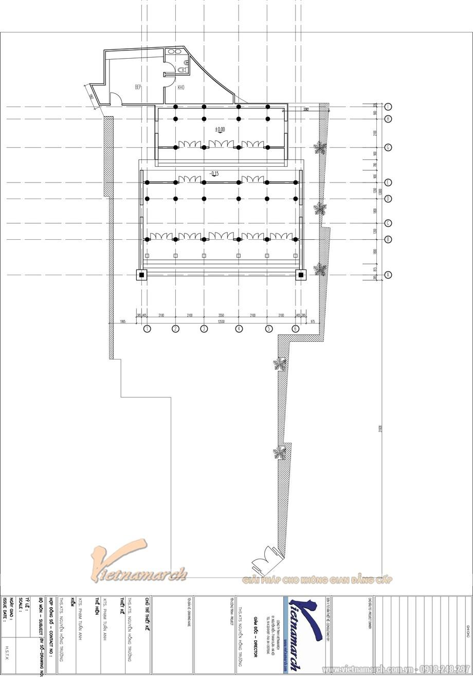 Bản vẽ thiết kế sơ bộ được KTS Phạm Tuấn Anh đưa ra cho chủ nhà