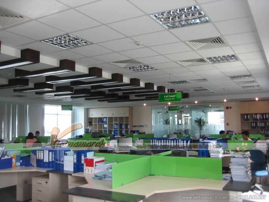 Ứng dụng của trần thạch cao PVC ở văn phòng.